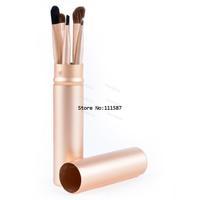 New arrival 5pcs eye part makeup brushes portable animal hair cosmetic brush kit with aluminum tube make up tool B11 SV005187