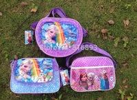 Frozen Anna Elsa Sets Bags Child Fashion Cartoon Handbags kids Small Shoulder Bags Children Day's Gift Frozen Schoolbag 20pcs/
