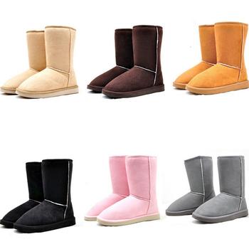 2014 Женщины Winter Snow Boot 6 Сплошной Цветs Warm Хлопок Boots Shoes Eur Размер ...