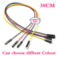 Free Shipping 30CM 1P dupont jumper wire cable Female to Female 100pcs/lot /more colours breadboard jumper wires cables