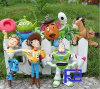 Woody Buzz Lightyear Jessie Keychains PVC Action Figure Model Toys Dolls 6pcs/set