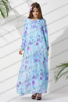 2014 New Arrival Arab muslim women's clothing Islamic Abaya Robe In Singapore  Free Size MU1001
