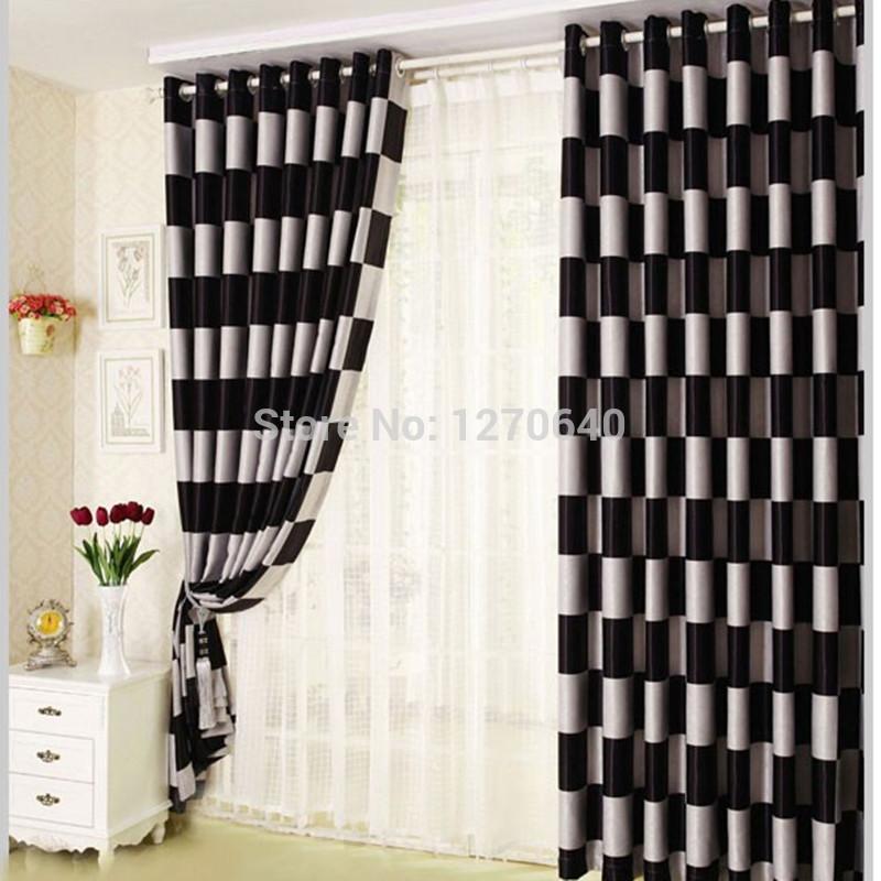... gordijnen uit China zwart wit patroon gordijnen Groothandel