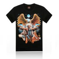 Free Shipping fashion tops summer 3D eagle print men T-shirts,o-neck t shirts men tees men's t shirt cotton men's T shirts,KT06