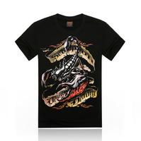 Free Shipping fashion tops summer 3D scorpion print men T-shirts,o-neck t shirts men's t shirt cotton men's T shirts,KT066