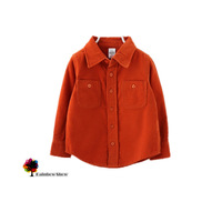 New Children Clothing Boys Long-sleeved Solid Thick Corduroy Shirts  Turn-down Collar Good Quality Shirt