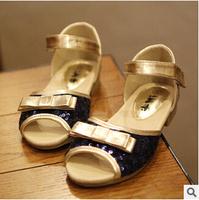 2014 summer new Korean girl princess shoes beaded sandals kids dance shoes B253