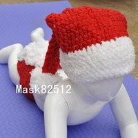 Free shipping newborn baby children girls boys child photography props Crochet Handmade wool modeling  sweater Santa Claus