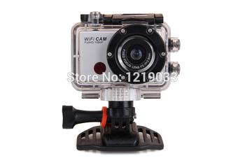 Серебряный Full HD 1920 * 1080 P 30 м WiFi камера водонепроницаемый экстремальные виды спорта
