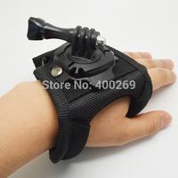 3pcs/lot Hand Palm Glove style Gopro Wrist Strap adapter mount for SJ4000,Hero3+,Hero3,Hero2,Go pro hero4 accessories GP156L