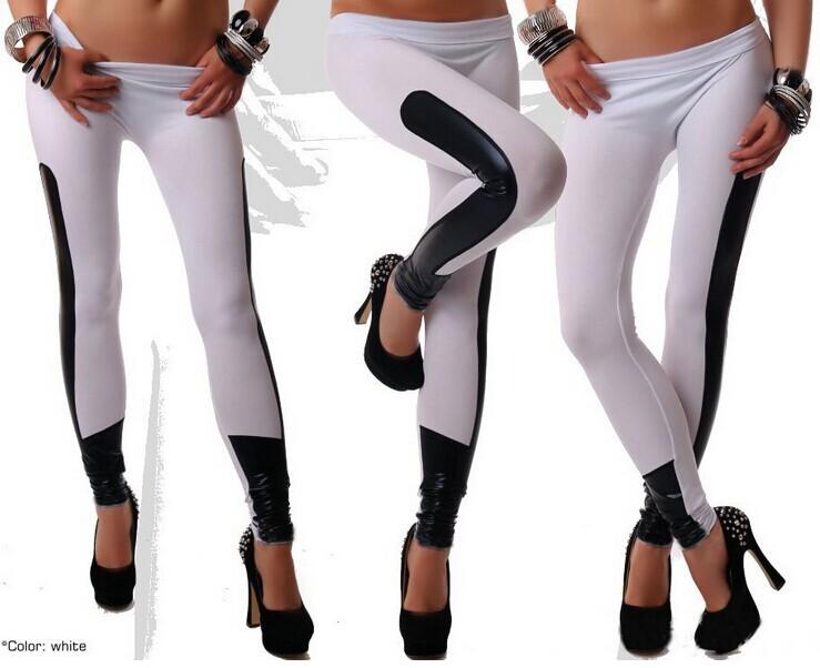 Женские леггинсы Leather leggings N026 lole леггинсы lsw1234 motion leggings m blue corn