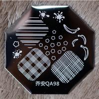 Free Shipping   10 pieces/lot  Nail Plates   QA Stamping Plate   QA98   Nail Stamp