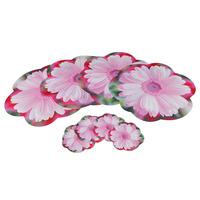 Novelty  Table Mat  Households Placemat  Flower Pattern Cup Mat  8pcs Sets Size 4L+4S sets B19010