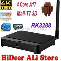 RK3288 tv Box Android 4.4 Cortex-A17 XBMC Quad Core 2.4G/5G WiFi Mali-T7 3D GPU Bluetooth Smart TV Media Player