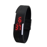 Fashion Brand Sports LED Digital Watches Bowl Table Mirror Children LED Watches RED Light Display Kids Military Ladies Watches
