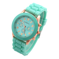 New 2014 Fashion Geneva Silicone Watches 2014 Women Casual Watches Analog Ladies Quartz Men Unisex Jelly Watch Dropship