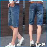 summer new arrival blue men jeans famous brand short jeans men's fashion casual short pants