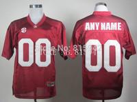 Customized Alabama Crimson Tide Red White sewn/stitched Personalized College Football Jerseys custom madecheap