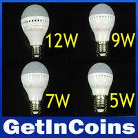 Retail LED bulb lamp E27 3W 5W 7W 9W 2835SMD white/warm white AC220V 230V 240V,smd 2835 E27 corn bulb