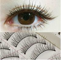 New 10 Pairs Handmade Natural False Eyelashes Eyelash Extension Long Fake Lashes Makeup Styling Tools Free Shipping