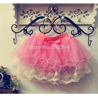 2014 children skirt summer clothes for girls baby tutu pettiskirt fantasia infantil saias girls chiffon fluffy pettiskirts !