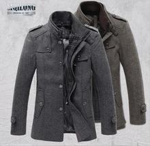 2014 high quality men's winter jacket coat jacket coat warm coat jacket windproof jacket stitching Slim(China (Mainland))