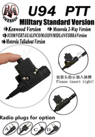 Element Z-Tactical U94 Style Headset PTT Adapter for Motorola EP350 P110 GP88 CP200 GP2000 CP125 GP300 P040 Two Way Radios
