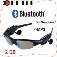 Bluetooth Mp3 Player 2GB Mp3 Sunglasses Player Headset Car Mp3 Player Headphone,Sport Player Music Mp3 2014 Wholesale
