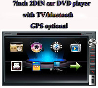 "universal 2 Din 7"" inch Car DVD player with GPS Navigation(optional),car audio Radio stereo,head unit,BT/TV,IN-DASH,touch HD"