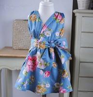 Retail new 2014 Classic Korean style clothing kids child girls dress summer prom party birthday prom dora Pleated dresses 1026#