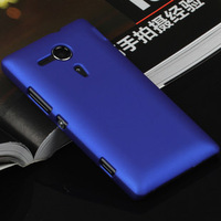 Colorful Hard Plastic Matte Back Case for Sony Xperia SP M35h C5302 C5303 2014 New Cell Phone Cases + Flim + Touch Stylus