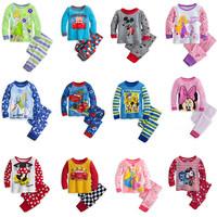 Retail New Frozen Olaf Pajamas Set Boy Cotton Long Sleeve Clothing Set Kids Pyjamas Snowman Sleepwear Autumn Winter3-10 AgeS014