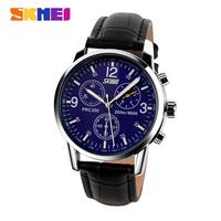 2014 Retro Leather Bracelet Men Wristwatches SKMEI Brand Casual Sports Watches Waterproofed Quartz Analog Man Dress Watch