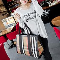 Fringe Plaid England Style Canvas Casual Shoulder 2014 Female Bag Women LargeTote Lady New College Wholesale Imported Handbag