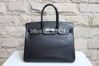 High-quality (1:1) 35CM epsom leather  (H-handbags) Women's handbags purse 100% Genuine leather Tote Gold  hardware