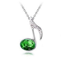 New Shiny Austrian crystal musical note necklaces for women pendant for women
