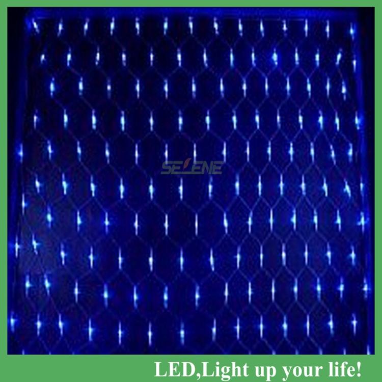1.5m*1.5m Net Lights 6w 100 LED Net Mesh Decorative Fairy Lights Twinkle Lighting Christmas Wedding Party US/EU 110-240V Free(China (Mainland))