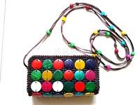 Free shipping fashion purse, handmade coconut shell purse