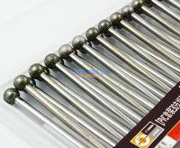 30 Pieces 6mm Dia Ball Shape Tip 3mm Shank Alloy Diamond Burrs Bits Grinding Tool
