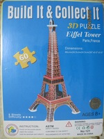 66cm Height 3D Puzzle crystal Eiffel Tower For Over 3 Years Children And Adults Paper  Puzzle Toys 3D Puzzles DIY Free Shipping