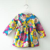 Retail spring new 2014 baby kid children girls accessories kids bridesmaid winter dresses bowknot Long sleeve petal dress 1060#