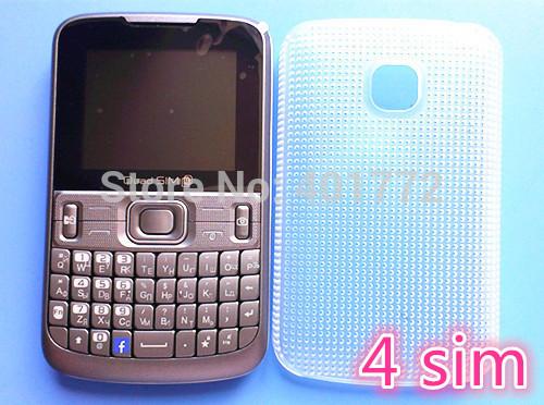 4 sim-karten 4 standby original admet 2014 neue billige qwertz-tastatur handy mp3 kamera fm radio bluetooth russische quadsim