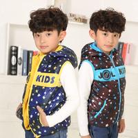 2014 winter new children's hooded vest children vest pentagram children's vest jacket factory outlets