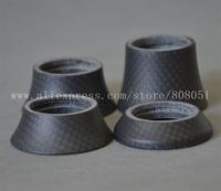 """1-1/8"""" Matte Full Carbon Fiber Headset Top Cover Lid Spacer 10mm 15mm 20mm 30mm"""