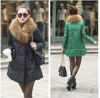 Free shipping Ladies Fashion down coat Winter jacket outerwear color clothes women thick jackets Parka Overcoat