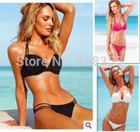 2014 The Lowest price sales Promotion Women's triangl style Swimwears Bikinis push up swim suit Neoprene Bikinis  Free Shipping