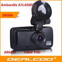 New 2014 In Stock Original Car DVR Recorder DK910 Ambarella A7 + Super HD 2304 * 1296P 30FPS + GPS Logger + G-Sensor + WDR