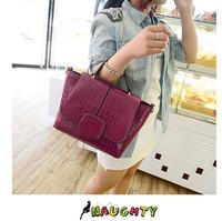 2014 luxury women handbag leather shoulder bag female vintage designer crocodile pattern bolsa lady casual small messenger bags