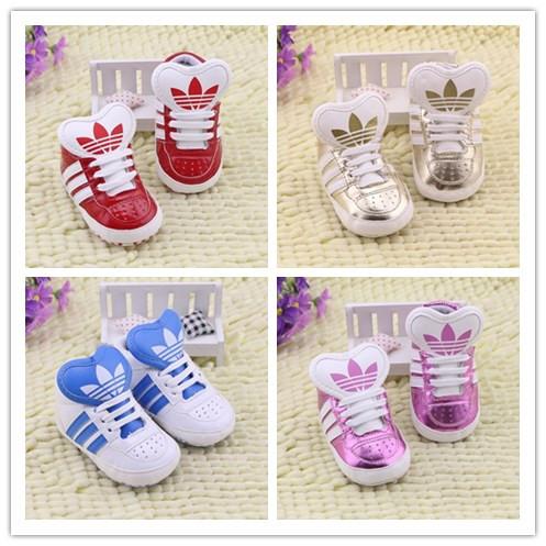 En stock, livraison gratuite! 2014 de mode de haute qualité chaussures de bébé de marque bébé bébé chaussures semelle souple pour bébés chaussures 8 couleur