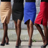 2014 New Autumn Winter Woman Skirt OL Package Hip Woolen Step Skirts Female Slim knee skirt large size For womens
